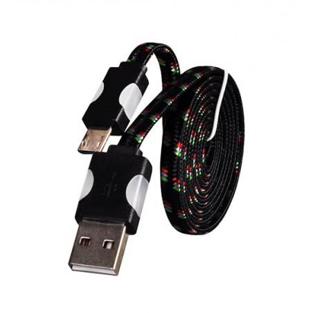 Kabel USB świecący sznurówk mciro usb 1m